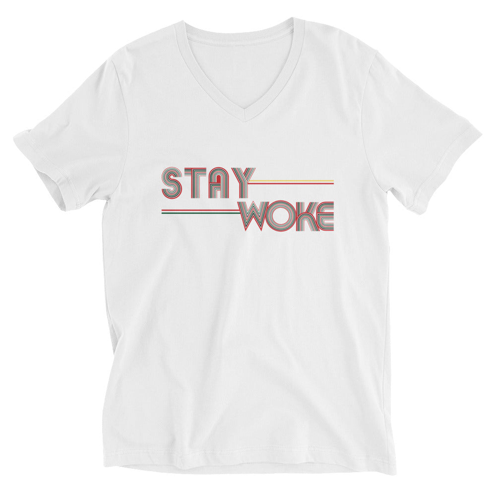 Stay Woke Angela 1 White V Neck