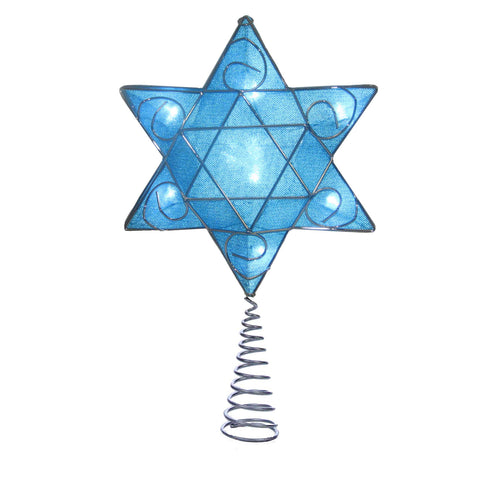 Lighted Deluxe Hanukkah Tree Topper® - Purchase at Noelsgiftsgalore.com, links in product description