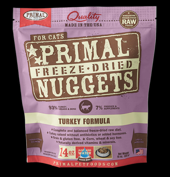 Primal Cat Freeze-Dried Feline Turkey Nuggets