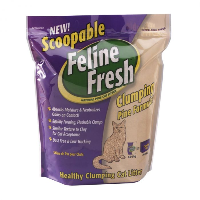 Feline Fresh Scoopable Clumping Pine Cat Litter