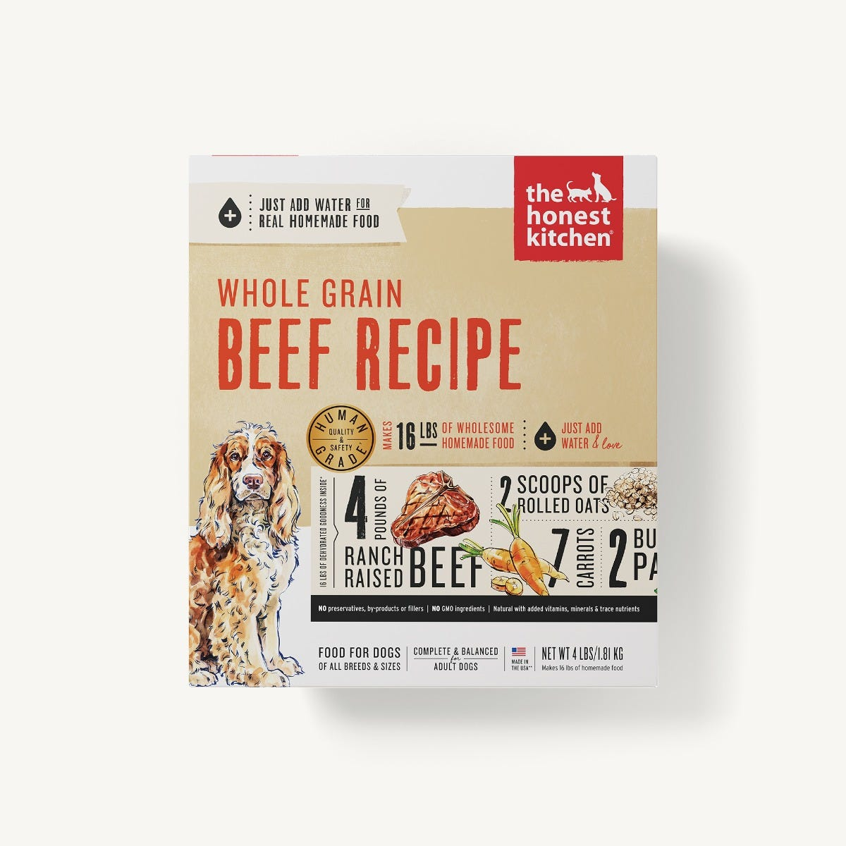 Honest Kitchen Dehydrated Whole Grain Beef Recipe