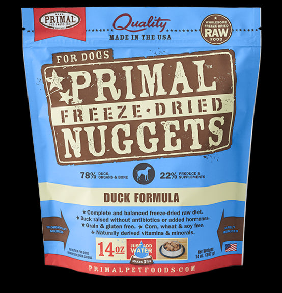Primal Dog Freeze-Dried Duck Nuggets