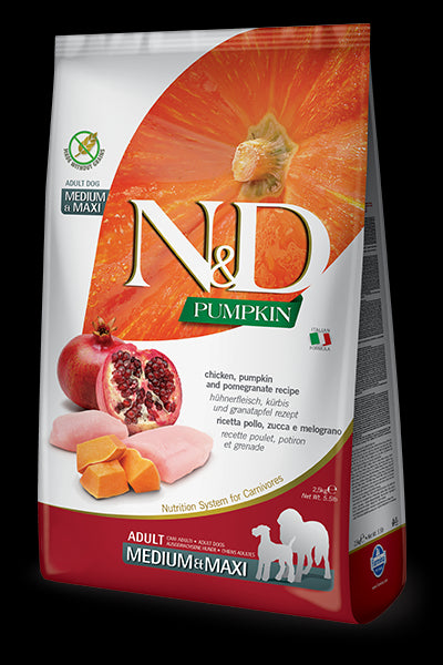 N&D Pumpkin Chicken and Pomegranate Maxi for Dogs