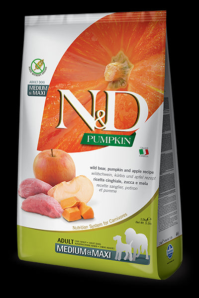 N&D Pumpkin Boar & Apple Adult Maxi for Dogs
