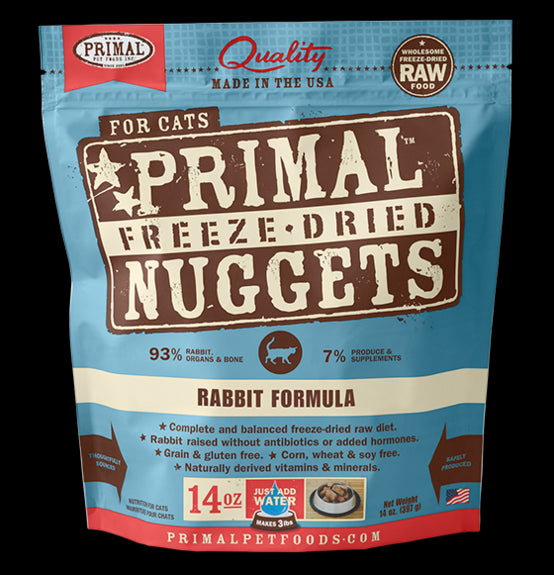 Primal Cat Freeze-Dried Feline Rabbit Nuggets