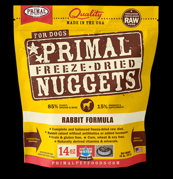 Primal Dog Freeze-Dried Rabbit Nuggets