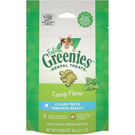 Feline Greenies Dental Treats Catnip Flavor