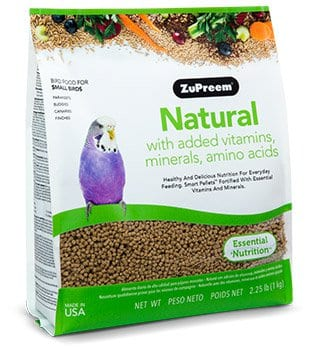 Zupreem Natural For Small Birds