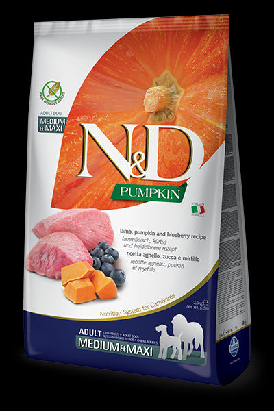 N&D Pumpkin Lamb & Blueberry Adult Maxi