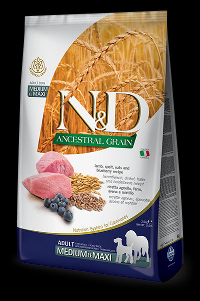 N&D Ancestral Grain Lamb & Blueberry Adult Maxi
