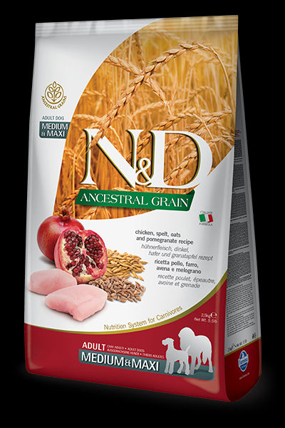 N&D Ancestral Grain Chicken & Pomegranate Adult MAXI for Dogs