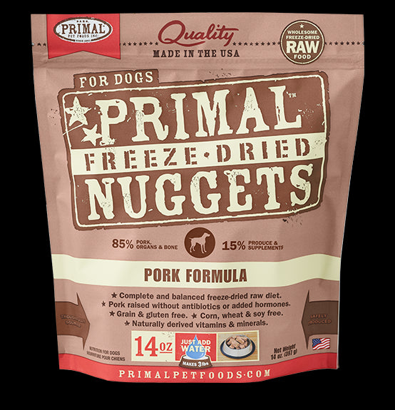Primal Dog Freeze-Dried Pork Nuggets