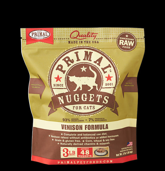 Primal Cat Raw Frozen Venison Nuggets