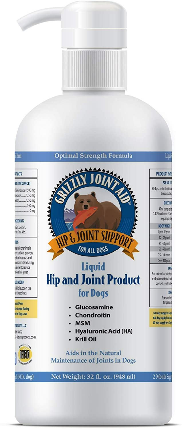 Grizzly Pet Liquid Joint Aid for Dogs
