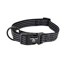 Hamilton Collar Black with Reflective Piping