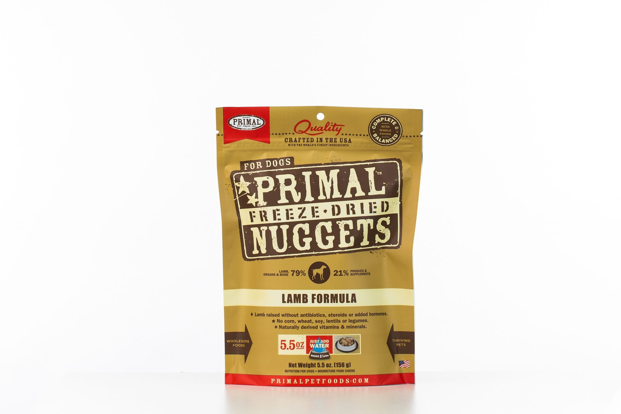 Primal Dog Freeze-Dried Lamb Nuggets