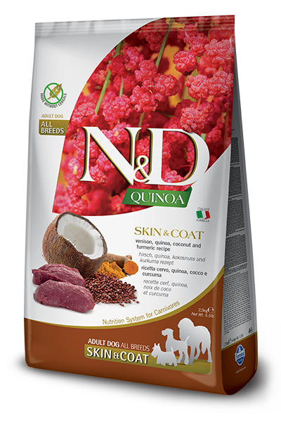 N&D Quinoa Functional Canine Skin & Coat Venison