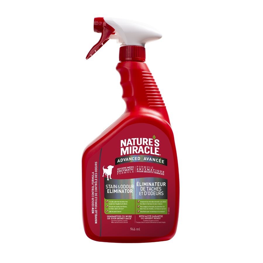 Nature's Miracle Advanced Stain & Odor Remover Spray for Dogs