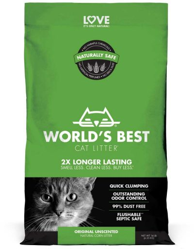 World's Best Original Unscented Clumping Cat Litter