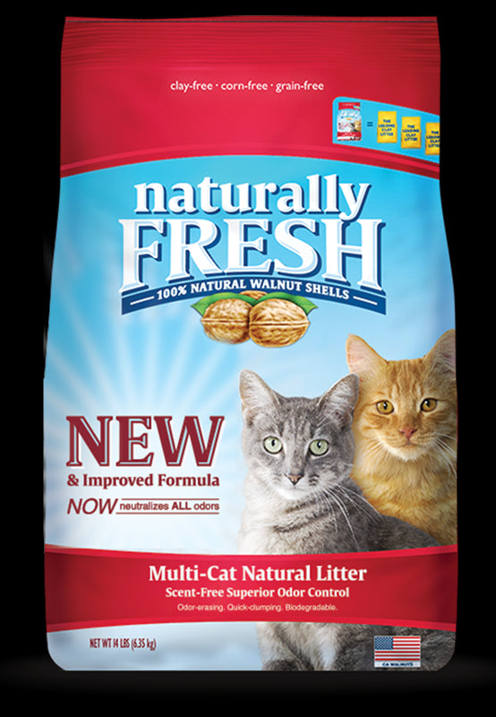 Naturally Fresh Quick-Clumping Walnut Multi-Cat Litter