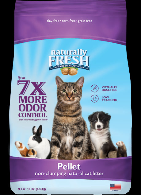 Naturally Fresh Non-Clumping Natural Walnut Pellet Litter