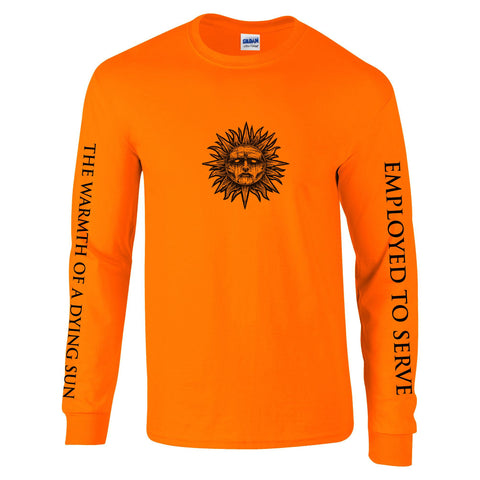 Employed To Serve - The Warmth Of A Dying Sun orange long sleeve