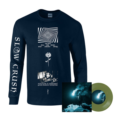 "Slow Crush - Reel long sleeve + eco vinyl 7"" bundle PRE-ORDER"