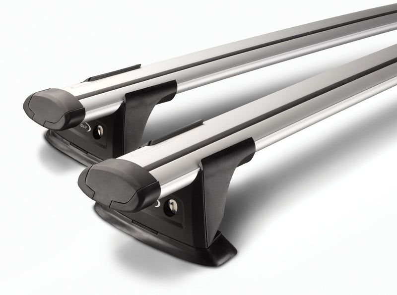 Whispbar Through Bar Silver Roof Rack set S17W