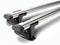 Whispbar Through Bar Silver Roof Rack set Half S18W