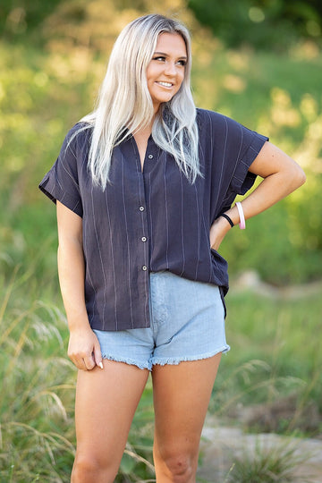 The Marcus Top- Navy