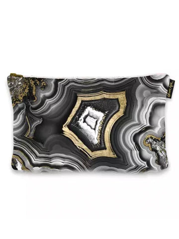 Indigo Fair Make-Up Bag Black Geode  Makeup Bag