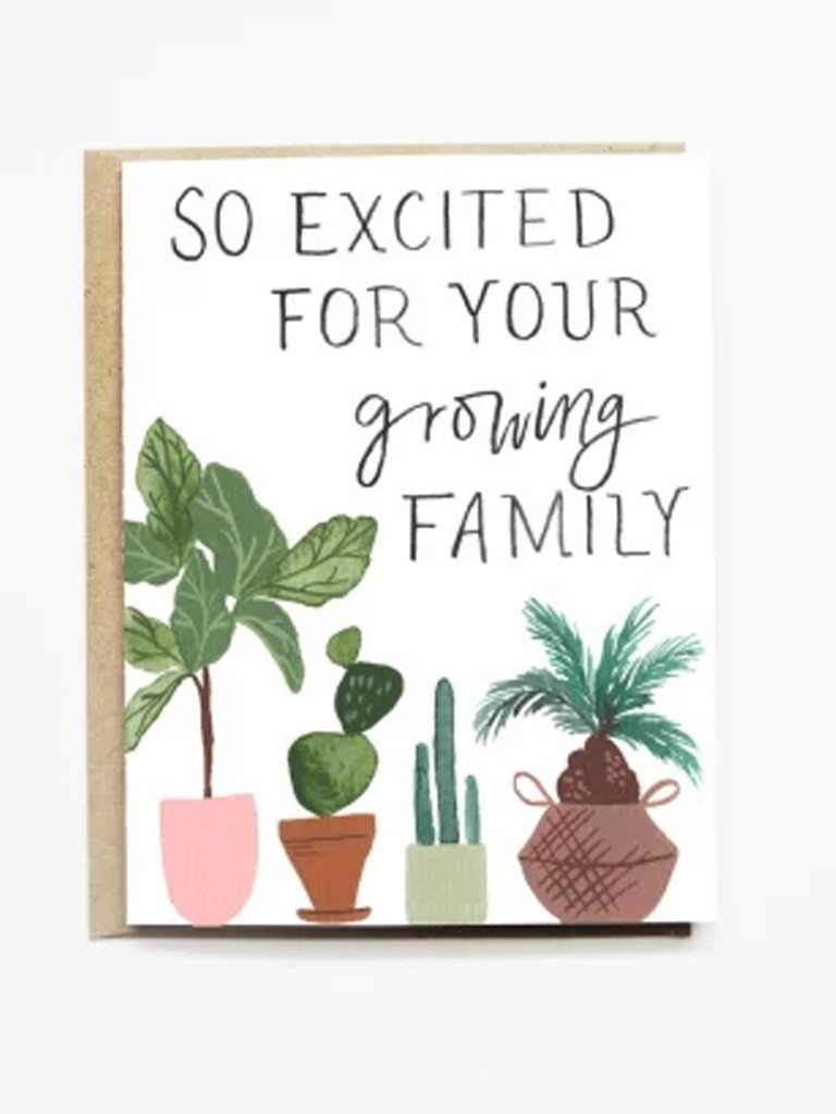 P + P Greeting Card Growing Family Card