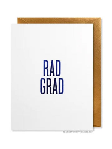 RBL Greeting Card Rad Grad Card