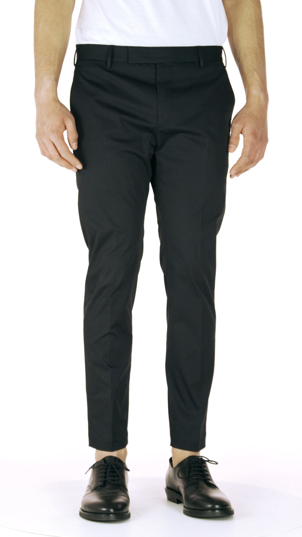 Navy gabardine trousers