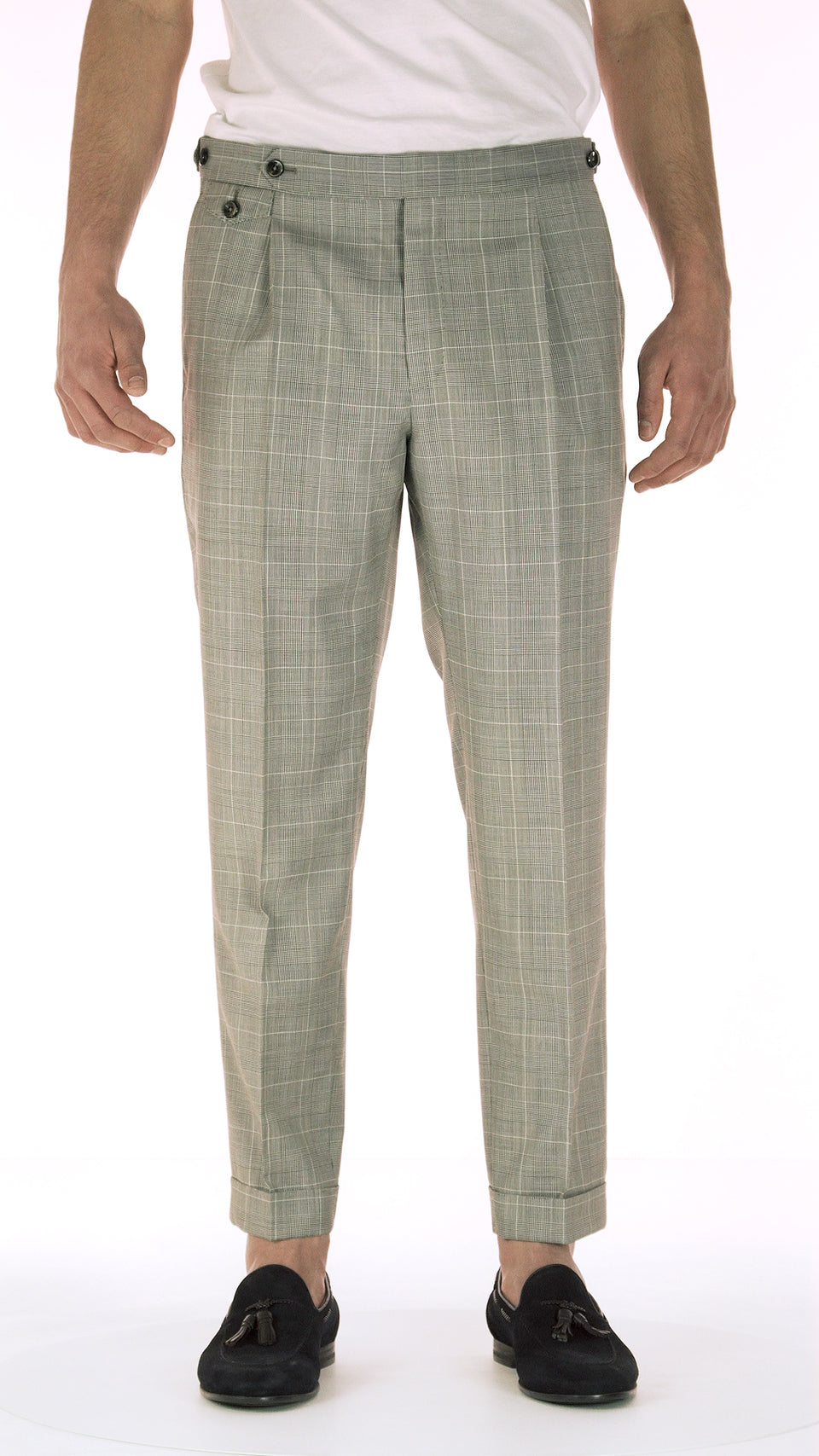 Gentleman Fit - 1Pleat - Overcheck Wool