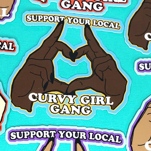 CURVY GIRL GANG STICKERS