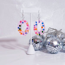 Load image into Gallery viewer, CIRCLE DANGLE EARRINGS