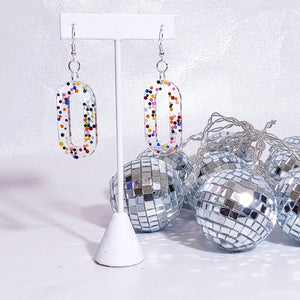 OVAL SPRINKLE DANGLES