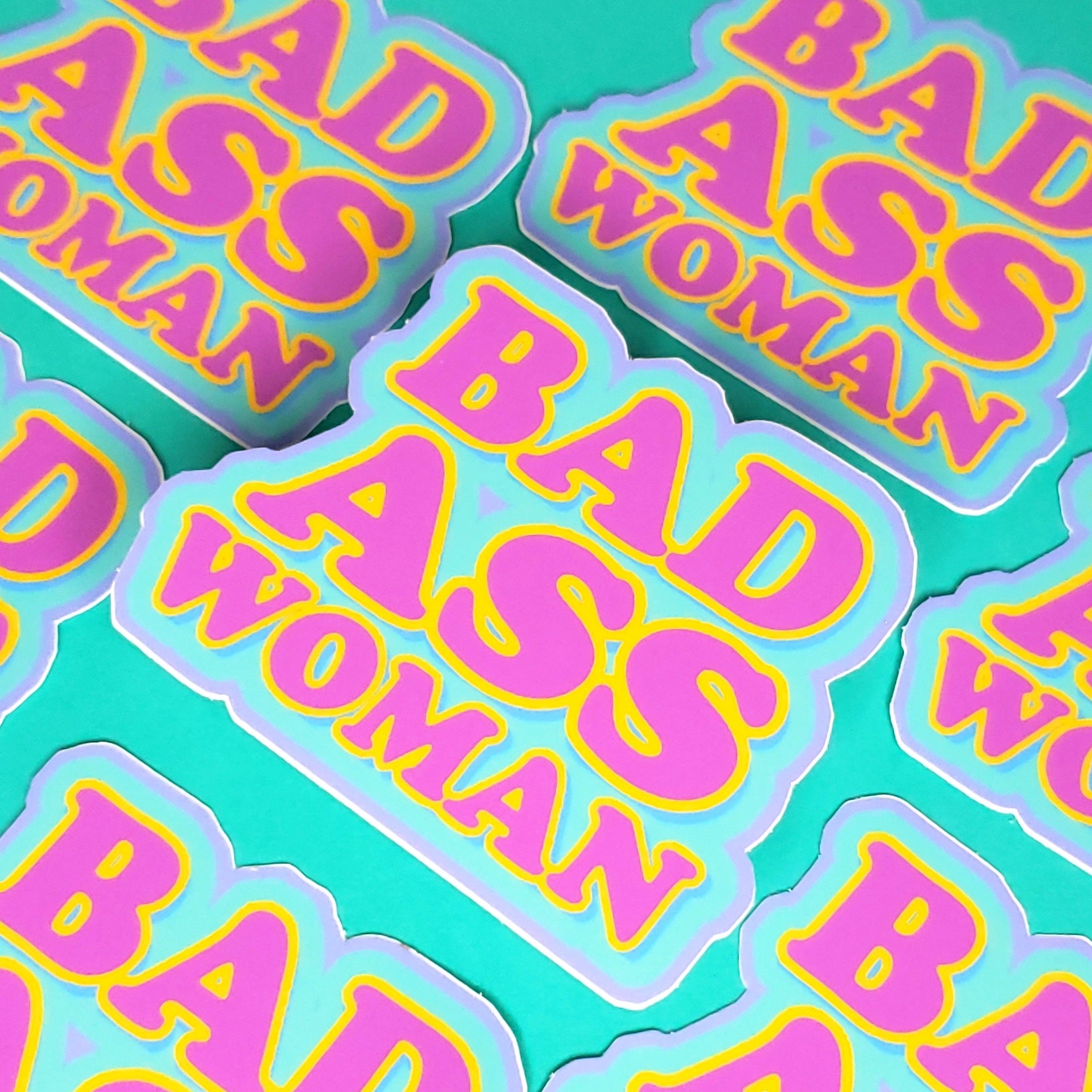 BAD A** WOMAN STICKER