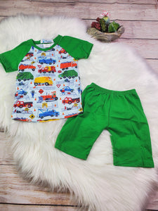 Vehicle Shirt Short Set
