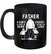 Father A Son's First Hero And A Daughter's First Love Mug Funny Father's Day Gifts
