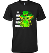 Baby Yoda A Wee Bit Irish Today Funny Patrick's Day Shirt