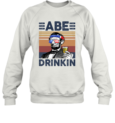 Abe Drinkin US Drinking 4th Of July Vintage Shirt Independence Day American T-Shirt