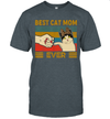 Vintage Best Cat Mom Ever Fist Bump Shirt