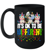 Unicorn Gift It's Ok To Be Different Autism Awareness Mug