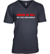 Savage As Hell But I Still Need Cuddles Funny V-Neck Shirt
