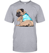 Pug Dog Tattoo I Love Mom Funny Shirts Mother's Day Gift