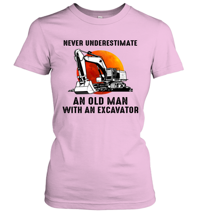 Never Underestimate An Old Man With An Excavator Shirt