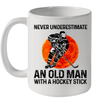 Never Underestimate An Old Man With A Hockey Stick Mug