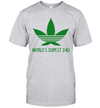 Weed Cannabis World's Dopest Dad Shirt Funny Father's Day Gifts